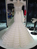 refined long sleeves lace maternity bridal gown