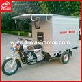 chino caja de carga cerrada triciclo de tres ruedas de la motocicleta con fuerte chasis