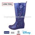 Mujeres de tacón alto botas de lluvia de goma wellingtons