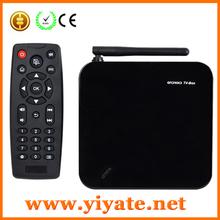 quad core android 4.2 mini pc tv box rockchip rk31 Webcam Microphone RK3188 2G/8G HD AV USB RJ45 WiFi Mini enjoy tv box