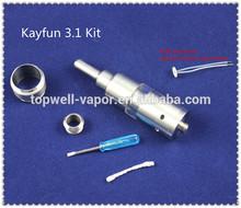 High Quality Russian 91% Atomizer Kayfun Tank Pyrex Glass Kayfun 3.1 Clone / kayfun 3.1 atomizers