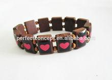 Fashion wood religious bracelet BR-985 natural heart