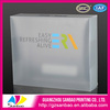 2014 high end environmentally friendly packaging box clear soft plastic