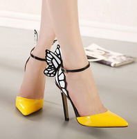 butterfly design shoes comfortable heels wholesale PJ3045