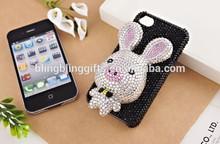 45 colors Wholesale Fashion 3D Rabbit jeweled cellphone faceplate cute cellphone case