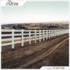 Fentech 4-Rail White Plastic Farm Fence PVC Vinyl Fence
