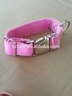 2014 new design nylon dog collar in pink