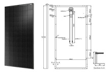 Special offer All Black 310W High Efficiency Mono Solar Panle with TUV CE CEC certified