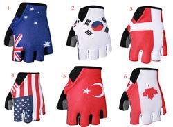 New Design 2014 Bike Sport Glove Anti-shock Protect Hands Bike Gloves Fingerless Bike Gloves Size M L XL Jackcome