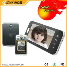 KIVOS 7 inch multi apartments video door phone Rain shield KDB700