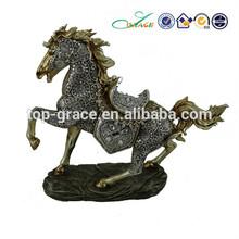 resin brass rocking horse
