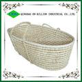 Hot sell handmade sleeping carry mose basket straw baby basket