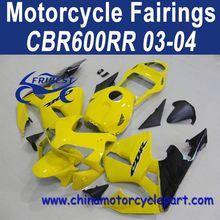 Factory Direct Sales For Honda CBR600RR 03 04 Yellow Bike Fairings FFKHD007