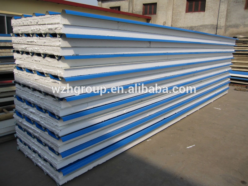 Eps Sip Panel Metal Sheets Two Sides Eps Foam Core