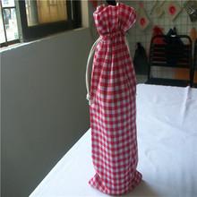Toile de coton sac de vin / 1 sac de bouteille de vin / motif pour tissu sac de vin