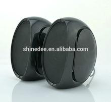 round shape metal mask high-end portable speaker
