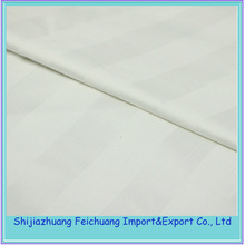 hotel bed sheet fabric 1cm stripe