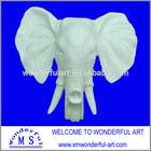 nice porcelain elephant head for wall decoration