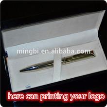 in guangzhou factory hot-selling logo on pen clip metal pen sample is free