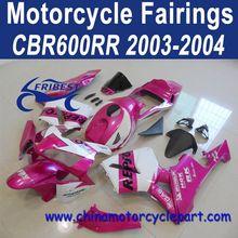 Wholesale For Honda CBR600RR 2003 2004 Pink Repsol Fairing Body Kit FFKHD007