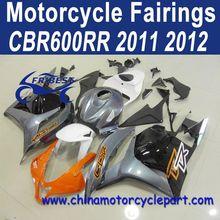 Retail For Honda CBR600RR 2011 2012 Orange And Grey Motorcycle Fairing Kit FFKHD010