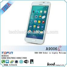 China supplier WIFI TV mobile phone SC6531 4.0inch PDA phone dual sim card