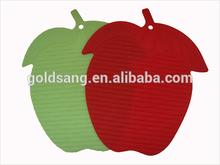 stripe apple shape silicone mat