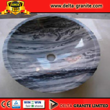 Natural Shandong white and black marble basin stone,white and black marble basin stone with CE&WIN=WIN certificate