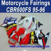 Popular Design For Honda CBR600FS 95 96 Red ABS Fairing Kit FFKHD002