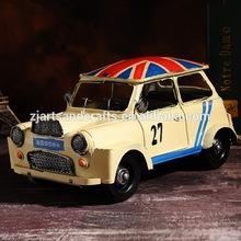 England style old metal vintage model car for cafe bar decoration