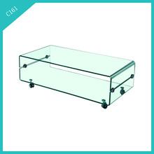 elegant bent glass coffee table