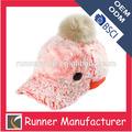 Niños alta calidad superior de color rosa sombreros para fría