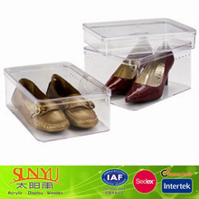 Different Size Lucite Shoes Display Case Perspex Shoes Case Wholesale