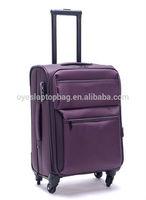 nylon black / purple japanese brand trolley luggage travel bags