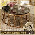 mermer üst paslanmaz çelik kahvehane masaları ve sandalyeler