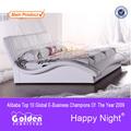 Qinde modern design furniture manufacturer full size double box bed 2821