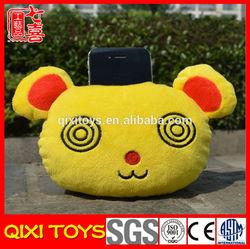 Custom Made Stuffed Animal Shaped Mobile Phone Holder Plush Funny Cell Phone Holder For Desk