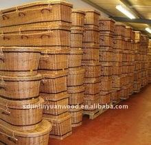 Chinese factory abundant supply wicker coffin