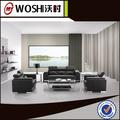 estilo moderno contemporáneo de cuero sofá de comercial para la oficina