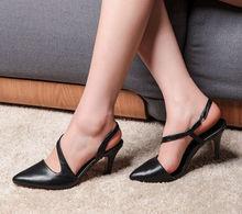 Elegant black high heel women sandal lady shoes super sexy small womens high heel closed sandal cheap lady sandal high heels