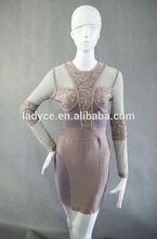 Recién a la moda manga larga con cuentas samba vestidos del precio de fábrica no MOQ