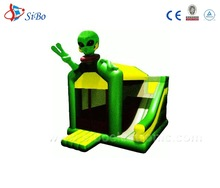 IC0033 SiBo Jumping Castle Inflatable Princess Bouncer Moonwalk With saucer man Theme
