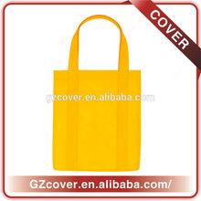 long handle non woven yellow cheap reusable shopping bag wholesale