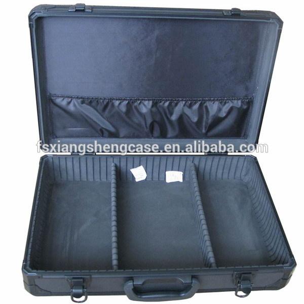 Black aluminum Tool Case Type Aluminum tool box with compartments