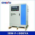 ce y rohs aprobados 100 kva serie sbw tres fase compensada separados ajustable del motor servo de ca regulador de voltaje