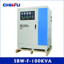 CE ROHS approved 100KVA SBW series three phase compensated separated adjustable servo motor ac voltage regulator