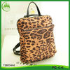 2014 new arrival wholesale leopard outdoor travelling women backpack