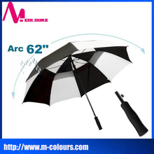 "OEM and wholesale promotional gifts straight golf umbrella automatic arc 62"" promotional straight automatic golf umbrella"