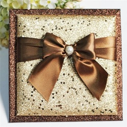 Top quality and good price bride and groom wedding favor card
