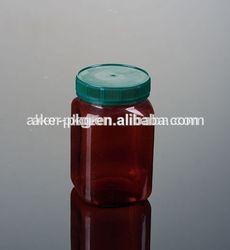 Eco-friendly 500g Honey Square Plastic Pet Bottle With Food Grade